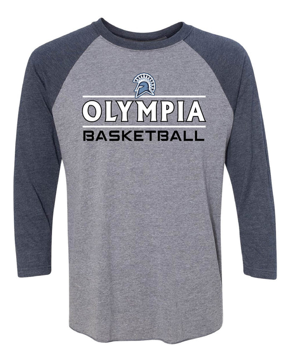 Olympia Basketball Stripe Baseball Tee