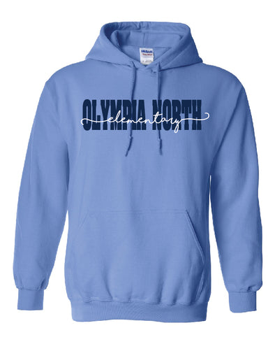Olympia North Cursive Hooded Sweatshirt
