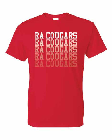 RA Cougars Faded T-shirt