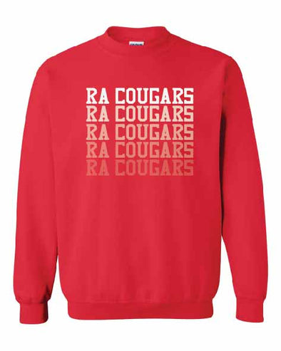 RA Cougars Faded Crew Sweatshirt
