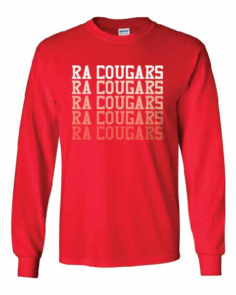 RA Cougars Faded Long Sleeve T-shirt
