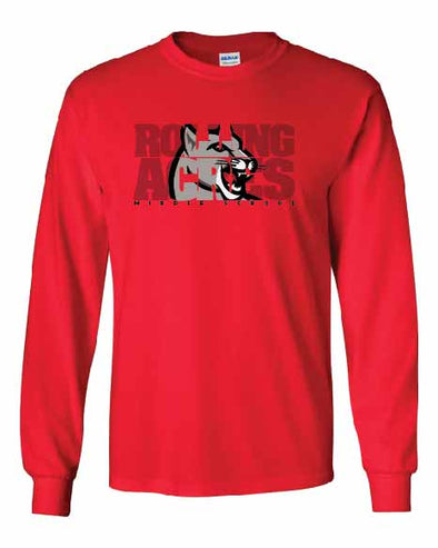 RA Cougars Inset Long Sleeve T-shirt