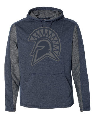 Olympia Spartan Mascot Stretch Hooded Pullover