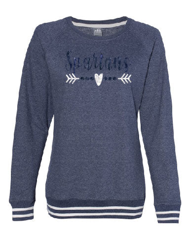 Glitter Spartans Heart Arrow Sweatshirt