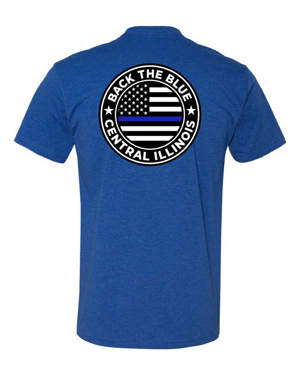 Back the Blue Central Illinois Logo Shirt