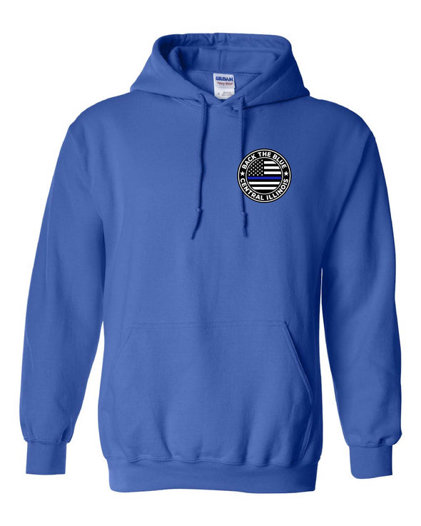 Back the Blue Central Illinois Logo Hooded Sweatshirt
