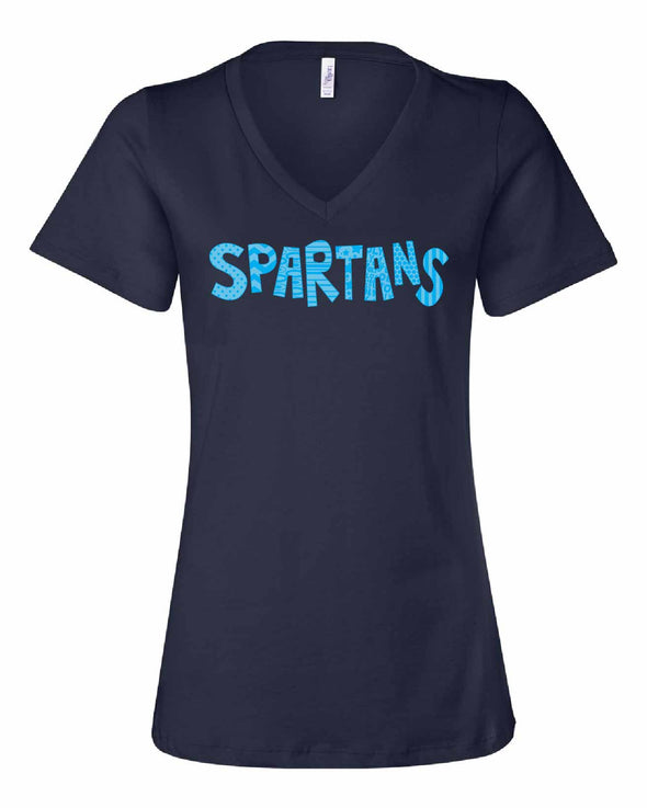 Olympia Spartans Quirky Ladies V-Neck