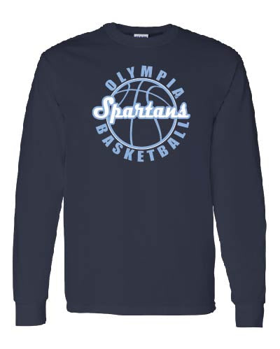 Olympia Basketball Arch Long Sleeve T-Shirt
