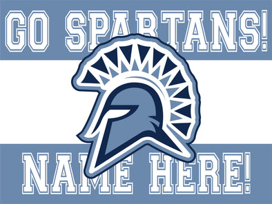 Go Spartans Yard Sign