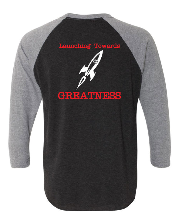 Roanoke-Benson Rockets Greatness Baseball Tee