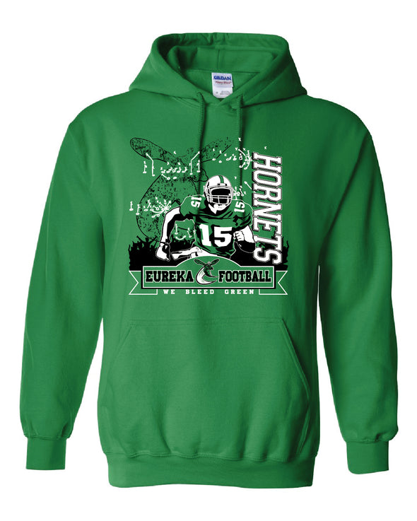 We Bleed Green Hooded Sweatshirt