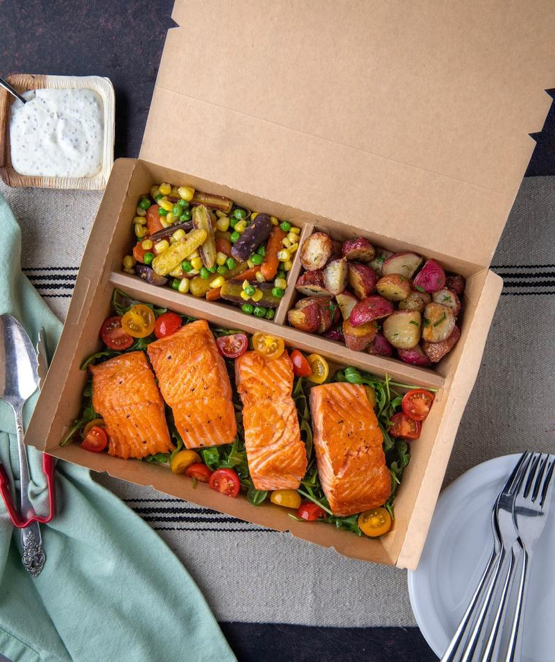 Bento Box - Sustainable Trifold Meal Delivery Box