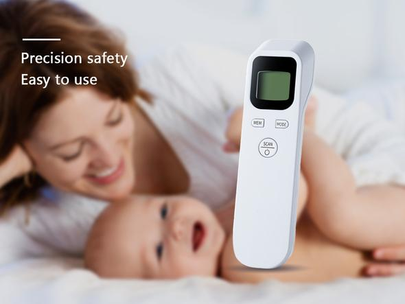 Electronic Non-Contact Infrared Thermometer (1 Count)