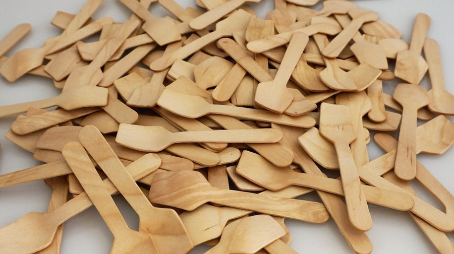Wooden Tasting Spoons (100 count Retail Pack)