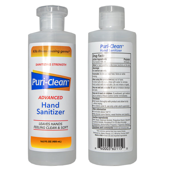 16.50 OZ 70% ALCOHOL HAND SANITIZER (1 Case)-VerTerra Dinnerware