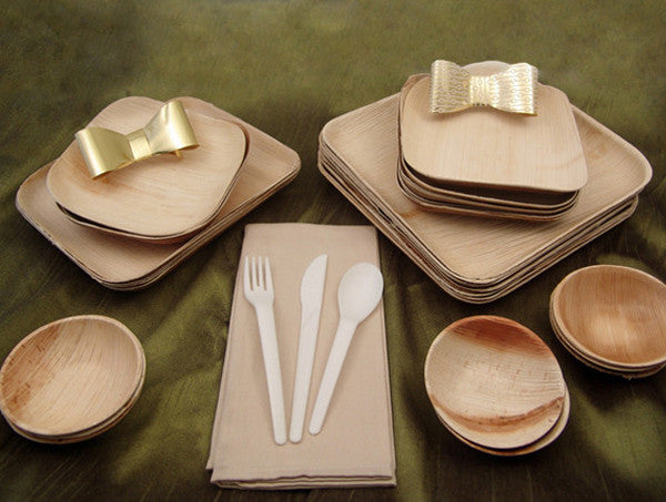 VerTerra Holiday Eco-Chic Party Pack & Best Selling VerTerra Dinnerware | Palm Leaf Plates