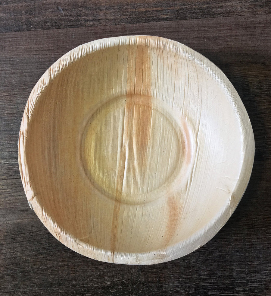 "8"" x 8"" Palm Leaf Salad Bowl (25 count Retail Pack)"