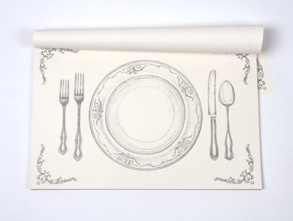Perfect Decorative Paper Placemats   Chic Placemats - VerTerra Dinnerware ZB99