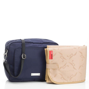 Mini Fix Navy Baby Changing Bag with accessories | Convertible Changing Bag | Storksak – Award-winning Baby Changing Bags & Accessories