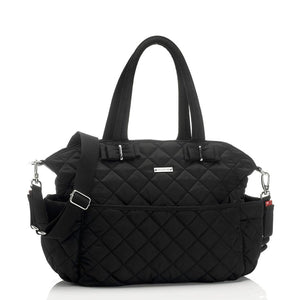 Bobby Black Changing Bag front view | Shoulder Bag Changing Bag | Storksak – Award-winning Baby Changing Bags & Accessories