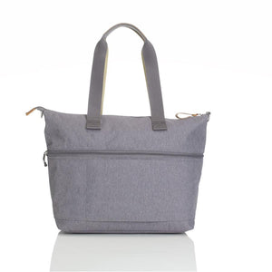 Storksak Travel Expandable tote Grey hospital bag back view | Maternity hospital bag | Storksak - Award-winning Baby Changing Bags & Accessories