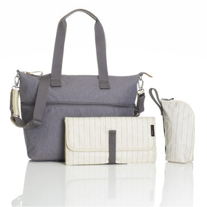 Storksak Travel Expandable tote Grey hospital bag with change mat and bottle holder | Maternity hospital bag | Storksak - Award-winning Baby Changing Bags & Accessories