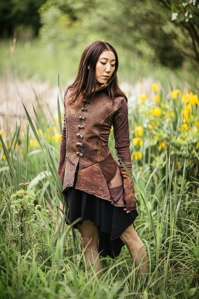 OOAK fleece Frock coat