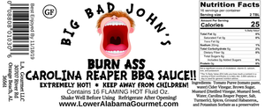 Burn Ass Carolina Reaper BBQ Sauce