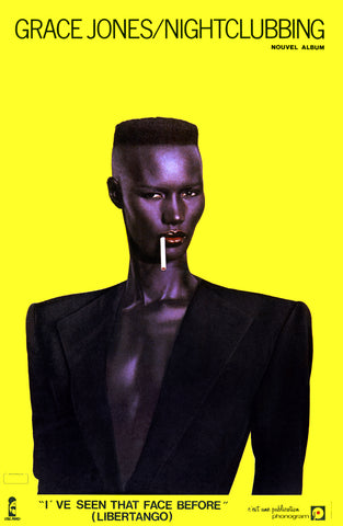 Grace Jones Nightclubbing Cover poster