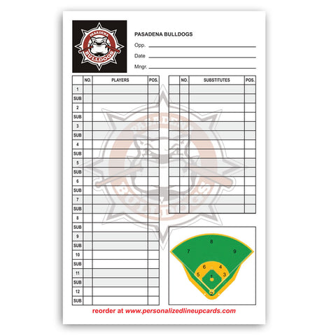 Lineup Card V1 - Logo Left