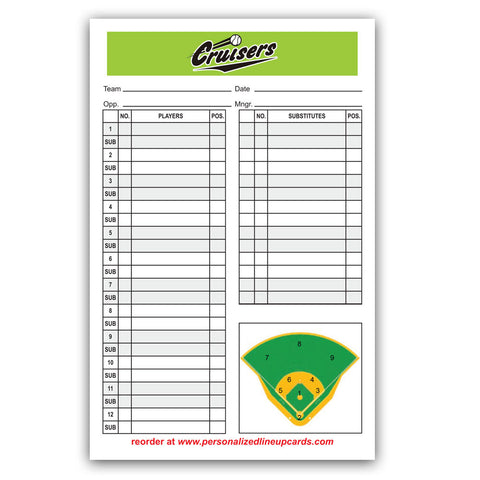 Lineup Card V2 - Center Logo
