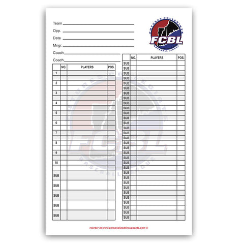 Lineup Card Version 7