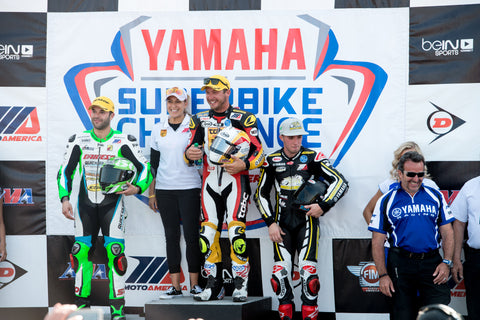 Danny Eslick wins at VIR with TOBC Racing Yamaha R1 and Full Spectrum Power Pulse lithium motorcycle battery