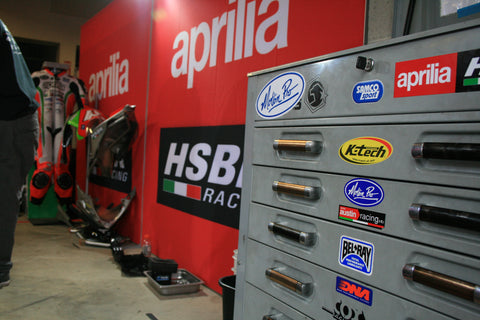 HSBK Aprilia racing workspace.