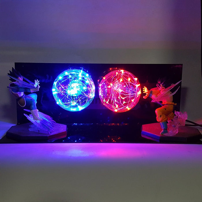 Goku vs Vegeta Action Figure LED Lamp