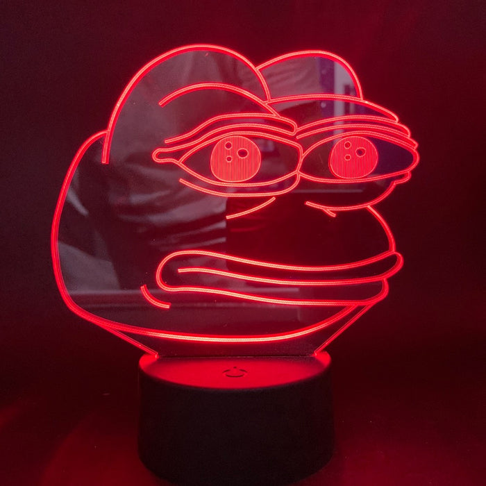 Pepe the Frog 3D LED Lamp