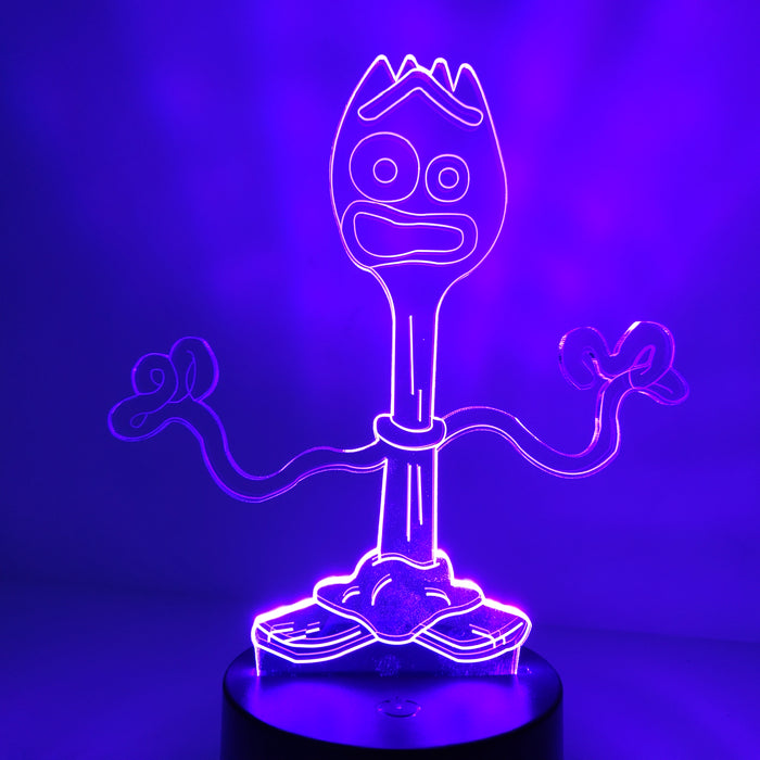 Forky 3D LED Lamp