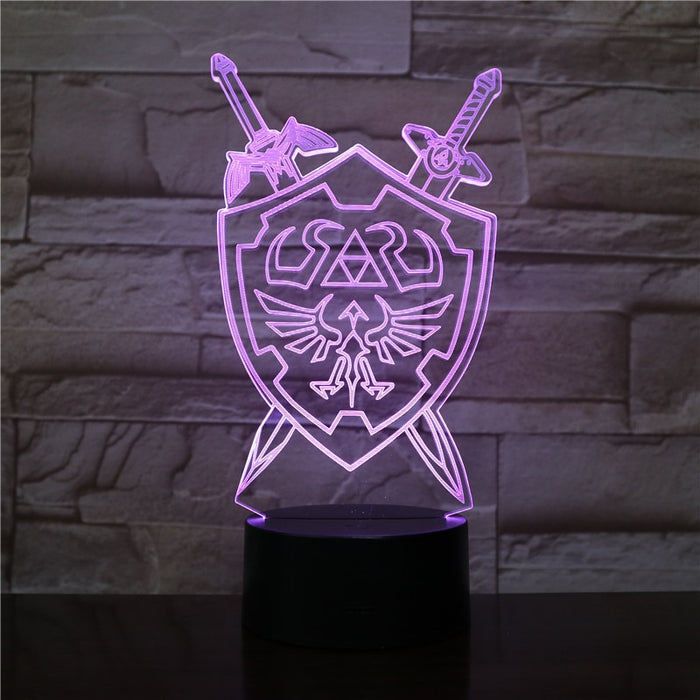 Hylian Shield 3D LED Lamp