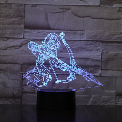 Link with Bow 3D LED Lamp