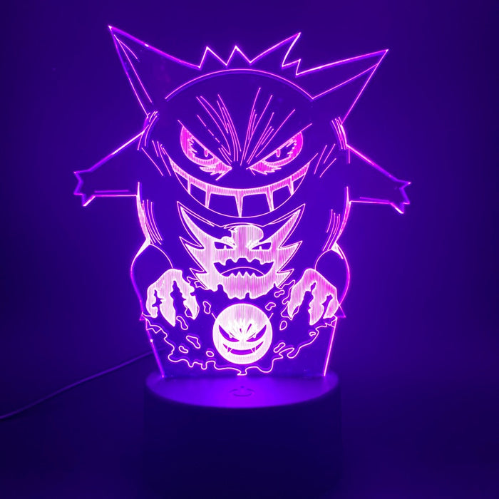 Gengar Evolution 3D LED Lamp