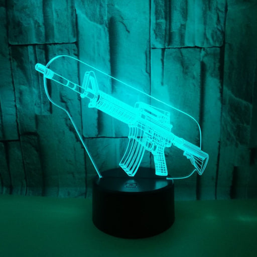 Assault Rife 3D LED Lamp