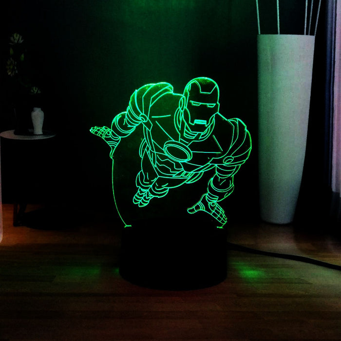 Ironman Flying 3D LED Lamp