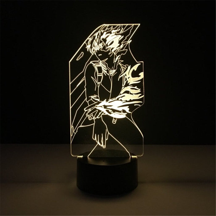 Shoto Todoroki 3D LED Lamp