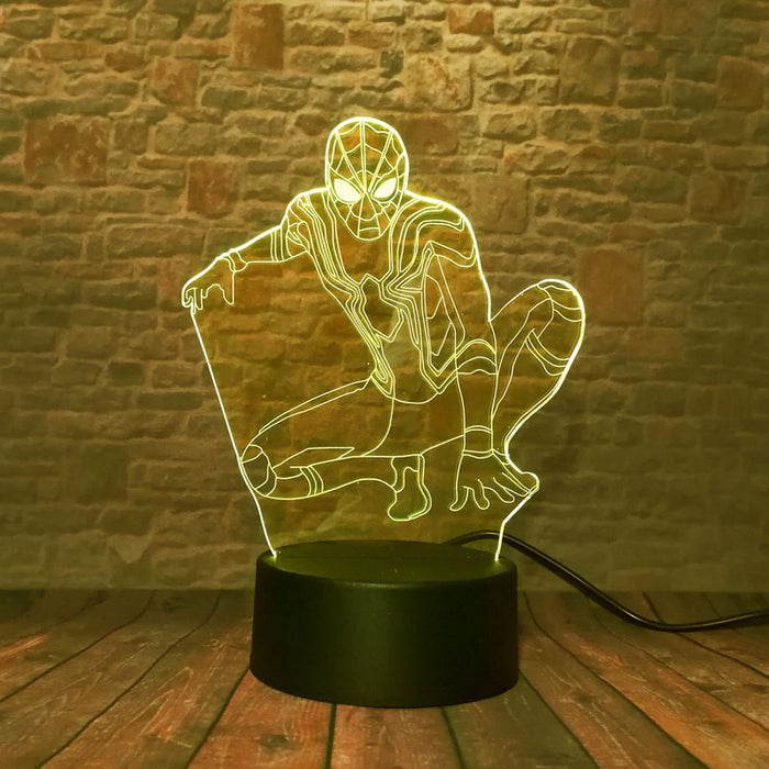 Iron Spider 3D LED Lamp