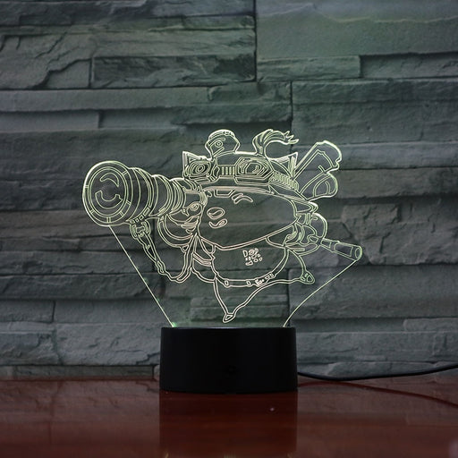 Teemo 3D LED Lamp