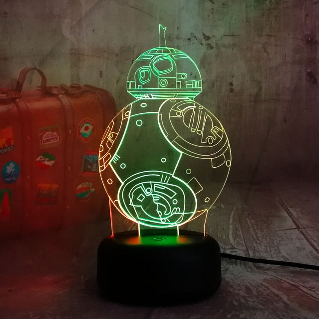 BB-8 3D LED Lamp - Color Split