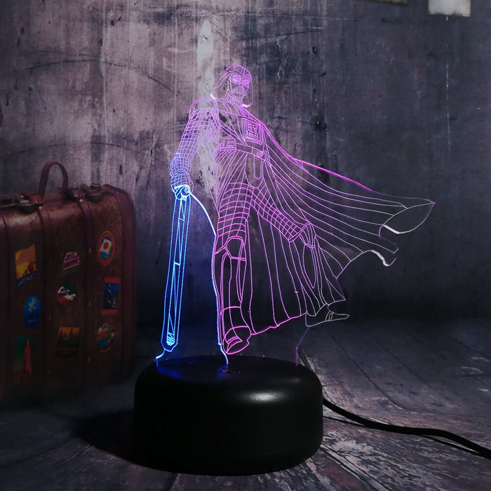 Darth Vader 3D LED Lamp - Color Split