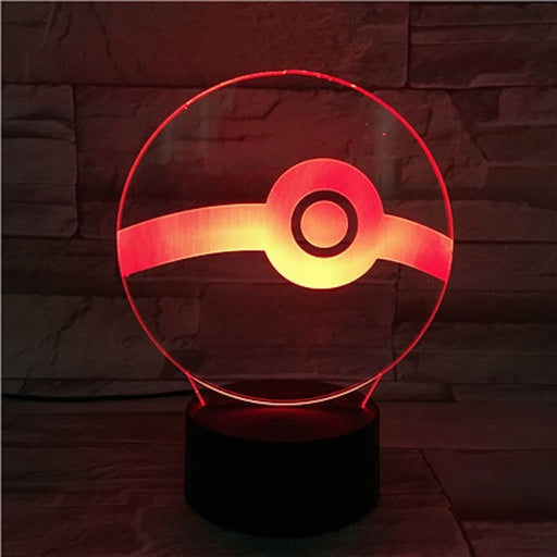 Pokeball 3D LED Lamp