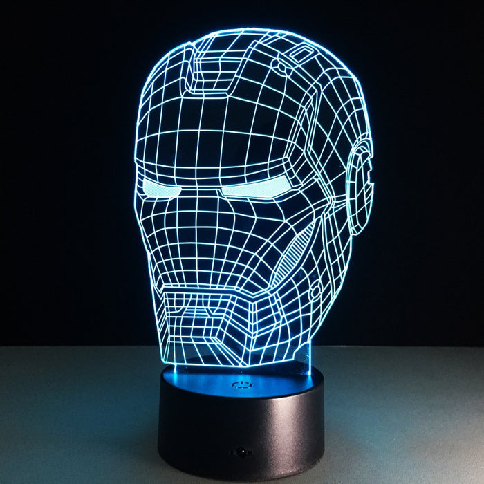 Ironman Helmet 3D LED Lamp