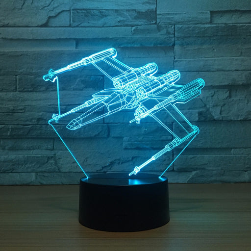 X Fighter 3D LED Lamp